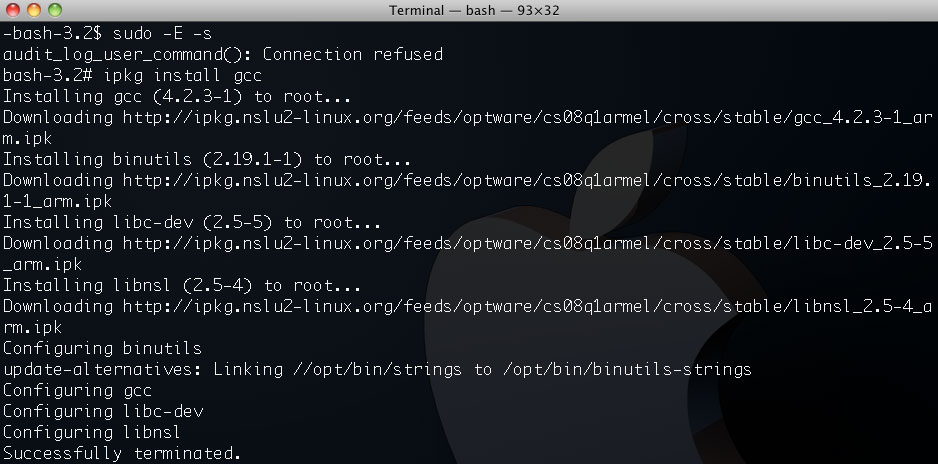 Install Gcc Compiler On The Netgear Stora