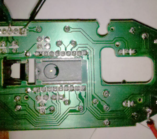 Solder Connections Auto Fire Mouse