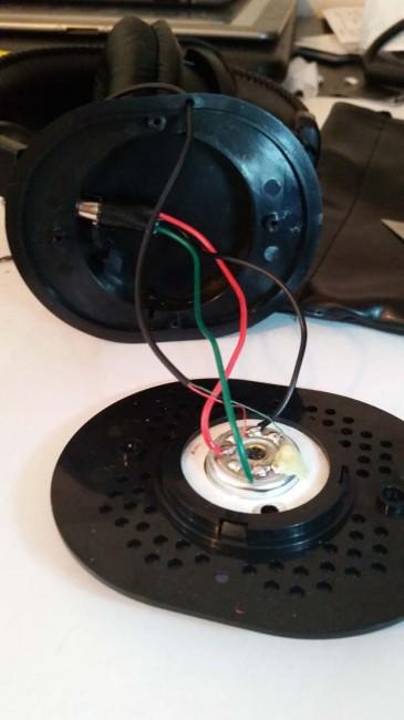 headphone driver plastic cone how to fix